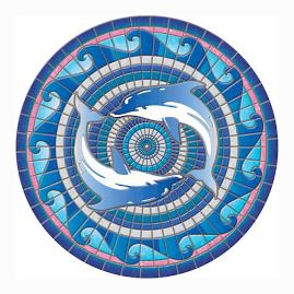 Dolphins Pool Mat