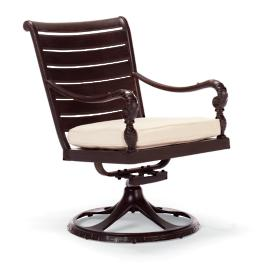 British Colonial Swivel Rocker Dining Chair Cover