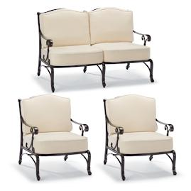 Orleans 3-pc. Loveseat Set in Chocolate Finish