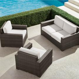 Palermo 3-pc. Loveseat Set in Bronze Finish