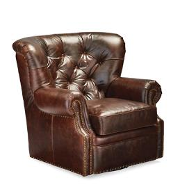 Brooks Leather Swivel Chair