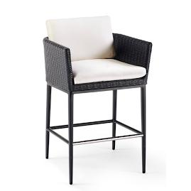 Palazzo Carbon Bar Stool with Cushion