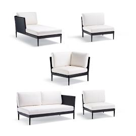 Palazzo Carbon 5-pc. Left-facing Chaise Set
