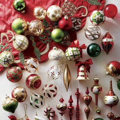 classic christmas 60 pc ornament collection frontgate