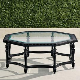 Carlisle Octagon Chat Table in Onyx Finish