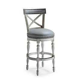 "Griffith X-Back Swivel Bar Stool (30""H Seat)"