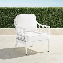 Avery Lounge Chair with Cushions in White