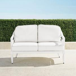 Avery Loveseat with Cushions in White