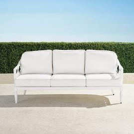 Avery Sofa with Cushions in White