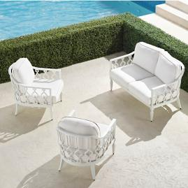Avery 3-pc. Loveseat Set in White