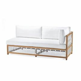 Catawba Right-Facing Sofa with Cushions in White Finish