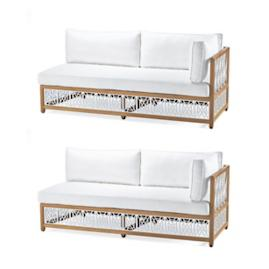 Catawba 2-pc. Right-Facing Sofa Set in White Finish