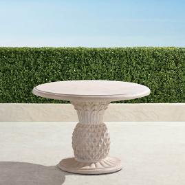 Faux Stone Pineapple Bistro Table