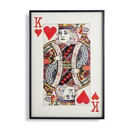 King of Hearts Cut Paper Collage