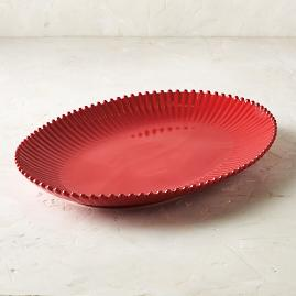 Costa Nova Pearl Oval Serving Platter in Rubi