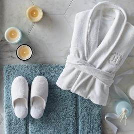 Resort Plush Robe & Slipper Set