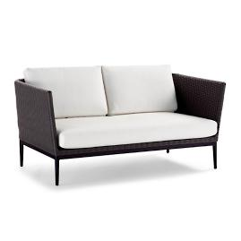 Palazzo Carbon Loveseat with Cushions
