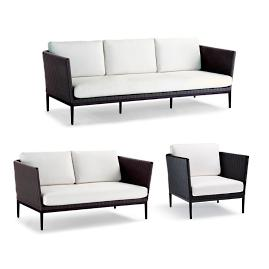 Palazzo Carbon 3-pc. Sofa Set