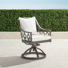 Avery Swivel Dining Chair with Cushion in Slate