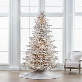Flocked Stafford Pine 9' Full Profile Tree