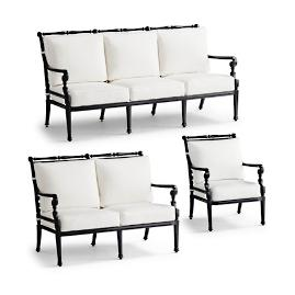 Small Carlisle 3-pc. Sofa Set in Onyx Finish