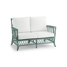 Myla Loveseat with Cushions in Sage Finish