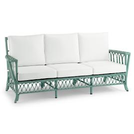 Myla Sofa with Cushions in Sage Finish