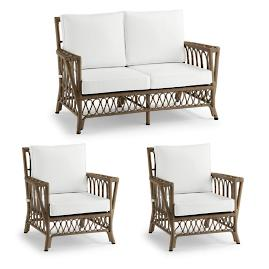 Myla 3-pc. Loveseat Set in Umber Finish