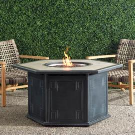 Camellia Hexagon Gas Fire Table