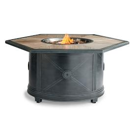 Delfina Hexagon Gas Fire Table