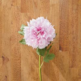 Faux Pink Peony Stems, Set of Six