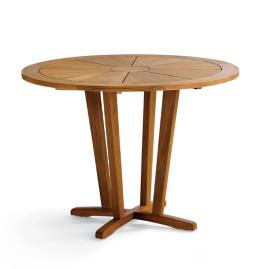 "40"" Liselle Round Teak Pedestal Dining Table"