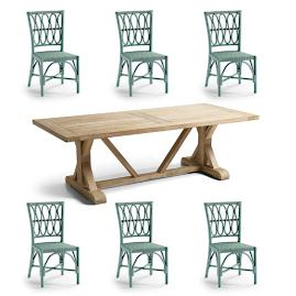 Myla 7-pc. Dining Set in Sage Finish