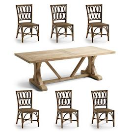 Myla 7-pc. Dining Set in Umber Finish