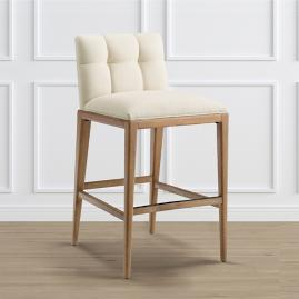 "Gramercy Bar Stool in Weathered Oak (30""H Seat)"