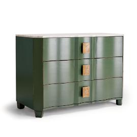 Draper 3-Drawer Bow Front Chest by Martyn Lawrence