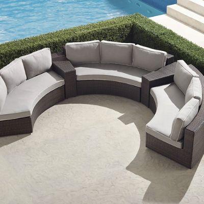 Pasadena Ii 5 Pc Sofa Set In Bronze, Front Gate Outdoor Furniture