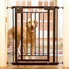 "34""H Tension-Mount Expanding Pet Gate"