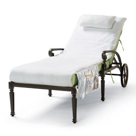 Cushioned Velour Chaise Covers