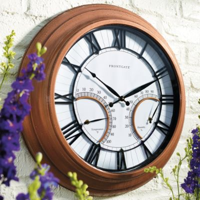 Oxford Outdoor Clock with Thermometer | Frontgate
