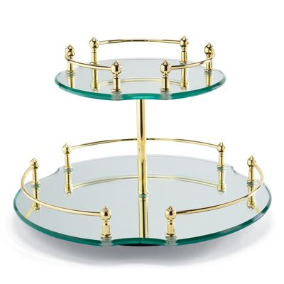Belmont Lazy Susan 2 Tier Vanity Tray Frontgate