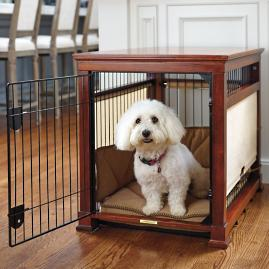 Luxury Mahogany Pet Residence Dog Crate