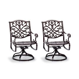 Orleans Set of Two Swivel Dining Arm Chairs