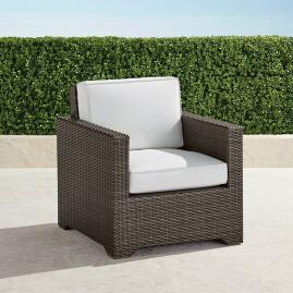 Small Palermo Lounge Chair with Cushions in Bronze