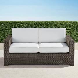 Palermo Loveseat with Cushions in Bronze Finish