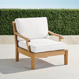 Cassara Lounge Chair with Cushions in Natural Finish