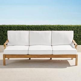 Cassara Sofa with Cushions in Natural Finish