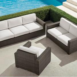 Palermo 3-pc. Sofa Set in Bronze Finish