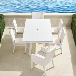 Palermo 7-pc. Rectangular Dining Set in White Finish
