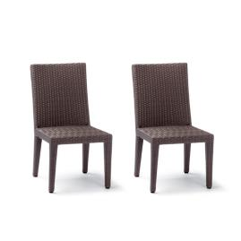 Palermo Dining Side Chairs in Bronze Finish, Set